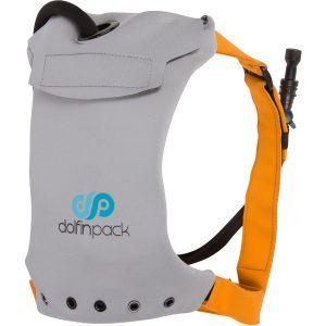 Slate Grey & Burnt Orange DolfinPack Hydration Pack - Front